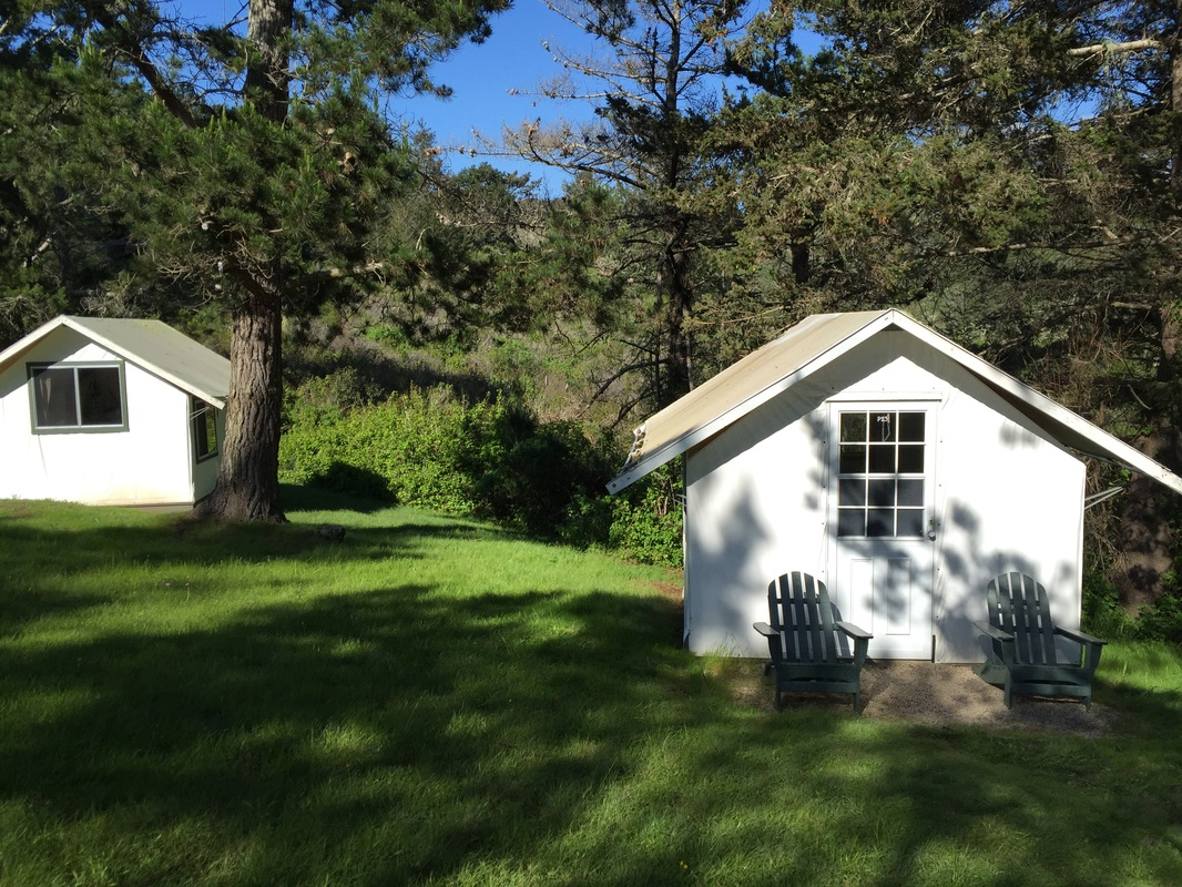 My tent bungalow with Adirondack chairs for taking it all in. & olivia boler: writing is fun - News